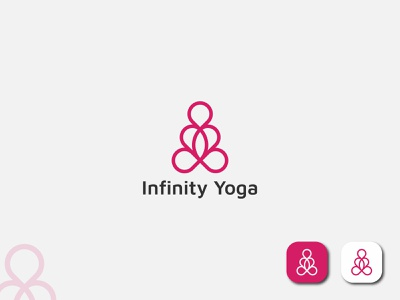 Yoga Logo Design - Infinity Yoga(unused) branding people natural meditation medicine medical lifestyle infinity human healthy health flowers fitness energy diet club care body balance athletic