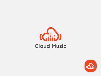 Cloud music Logo Design media music colorful typeface ui ux alphabet app icon design mark icon symbol lettering typography ui illustration design vector identity logo design creative branding