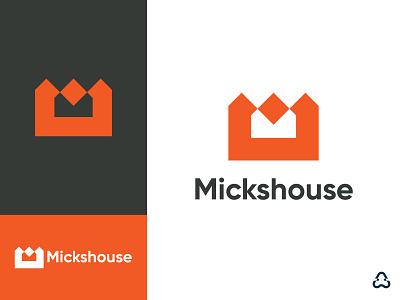 M & House Logo Design graphic design ui illustration start up company ecommerce logo brand identity typeface logotype mark symbol icon app icon design design logo colorful vector identity logo design creative branding