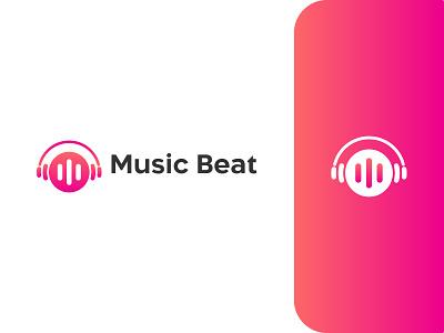 Music logo design design beat music player logo identity vector colorful app icon design ecommerce logo online shop music logo digital agency tech logo modern logo flat minimalis data logo design creative branding