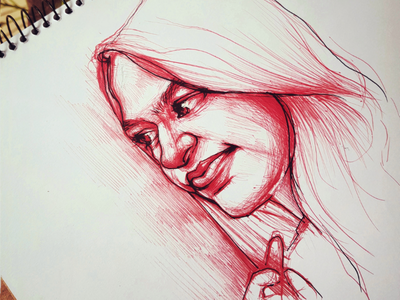 Red Ballpen Sketch sketch pensketch