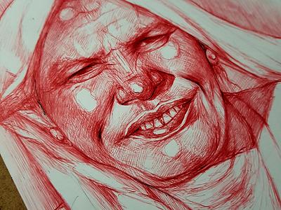 Red Pen Sketch pensketch pen