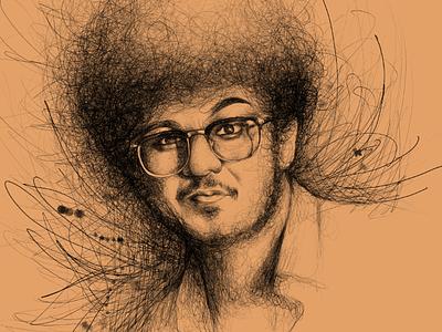 Scribble Sketch Portrait sketch portrait art line art scribbles scribble art