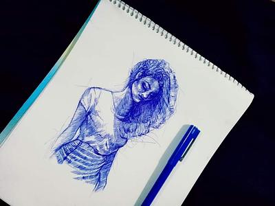 Pen Rough Sketch pensketch sketch portrait