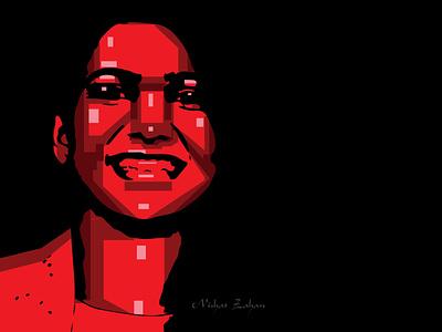 WPAP/POP PORTRAIT portrait illustration portrait art vector illustration vector art popart wpap art wpap