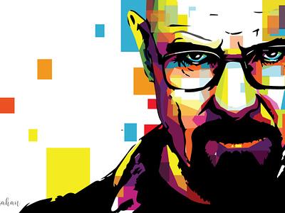 WPAP/POP PORTRAIT heisenberg iilustration portrait vector illustration vectorart pop art popart pop wpap
