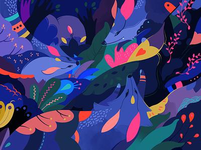 Secrets of Fox illustration animal fox jayekang jaye