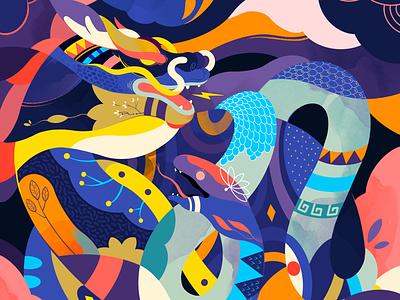 Qilin digitalste art jayekang illustration mythology mythologie