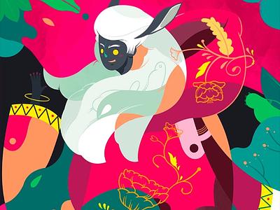 Humanized narrative artwork mythology infix jayekang story illustration chinese