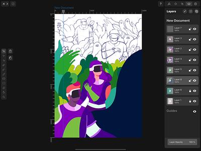 Process of using vectornator vectornator jayekang designart artwork digital illustration illustration