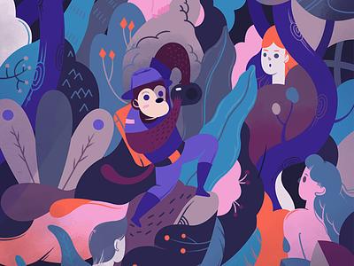 The Visitor visual design illustration art artwork jayekang colors illustration