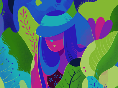 It is about nature and everything... green grow lady artwork design editorial art illustration nature