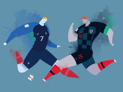 2018 World Cup final editorial design sport life man worldcup illustration football