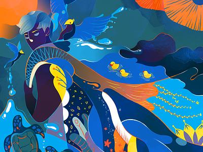 A Lifetime At Sea pattern water colors animal sea life art director illustration illustration agency illustration art