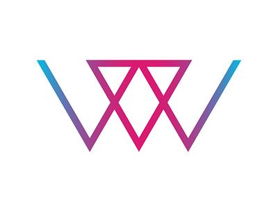 Personal logo 2020 triangular triangles gradient vector illustrator design logo logo design branding illustration