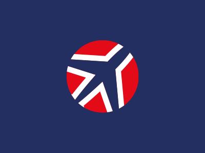 RoenTravel Logo Design branding logo illustration travel flag norway blue red