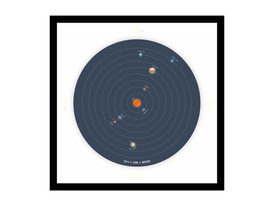 The Solar System planets space illustration vector art graphic design