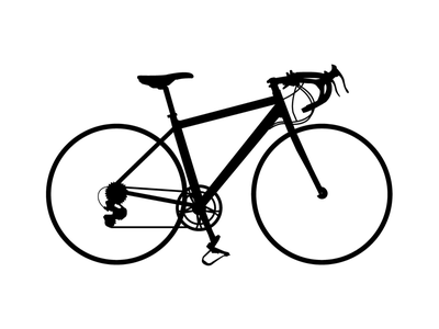 Bicycle bicycle silhouette illustration