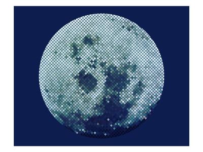Moon glitter ball illustration space moon glitter graphic art illustrator illustration