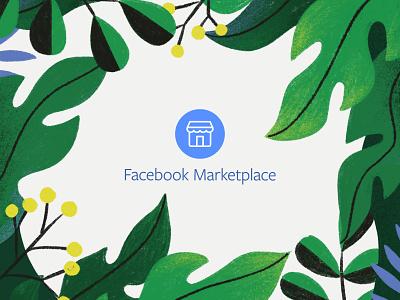 Facebook Marketplace Summer Workshop procreate nature houseplant succulent sun illustration vase pot pots leaves summer plant plants marketplace