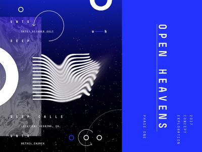 Experiments typography planets blue lines circles abstract black and white stars outer space space