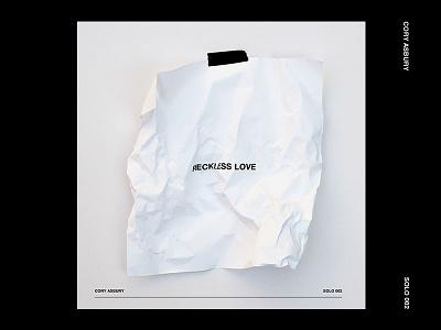 Reckless Love Single minimal black wrinkles typography paper white cover album