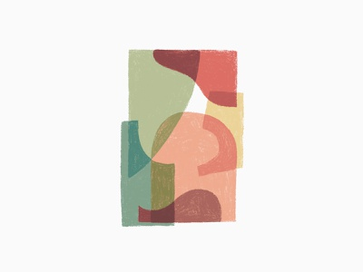 Color Comp 1 illustration shapes red green pink overlay abstract shape color