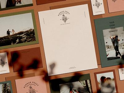 Hannah Posey Print Materials logotype layout print letterhead business cards branding logo brand identity brand