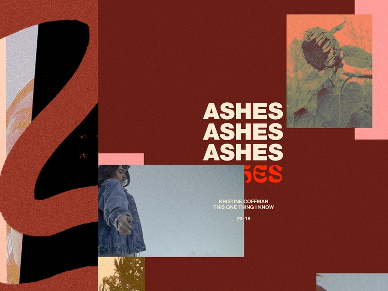 ASHES trendy grungy album art music art direction brand cover album ashes