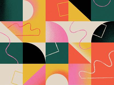 Facebook $2 Billion Fundraisers blocks scribbles illustration pattern geometric