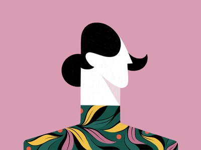 Portrait of a Girl drawing hair leaves sweater portrait face head woman girl procreate illustration