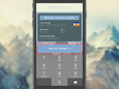 Credit Card Checkout day2 dailyui