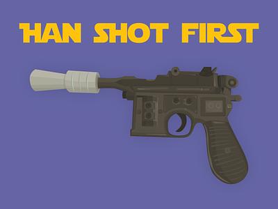 Blaster Pistol blaster pistol han solo blaster starwars