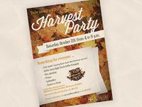 Harvest Party Flier