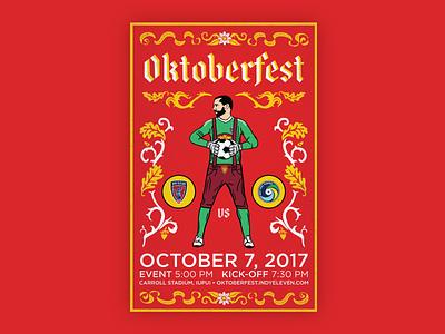 Indy Eleven Oktoberfest Poster - Full leiderhosen nas indy eleven indianapolis