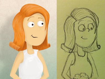 Sketching of the Bride illustration sketch