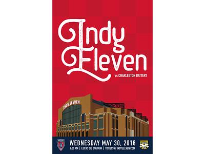 Indy Eleven Gameday Poster - 5/30/18 illustration indy eleven