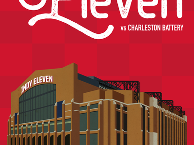 Indy Eleven Gameday Poster - 5/30/18 Closeup illustration indy eleven
