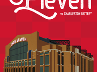 Indy Eleven Gameday Poster - 5/30/18 Closeup