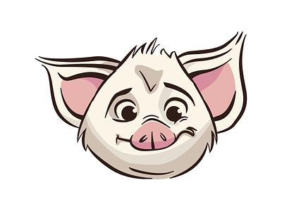 Pua the Pig illustration disney moana pig pua