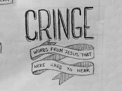 """""""Cringe"""" Sketch sketch banner hand drawn"""