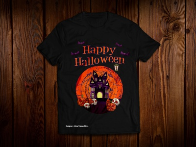 Halloween T Shirt - Horror Design design covid19 corona helloween illustration typography design tshirts fashion design t-shirt design teest-shirtdesignfashionunique print design girls t-shirt custom design
