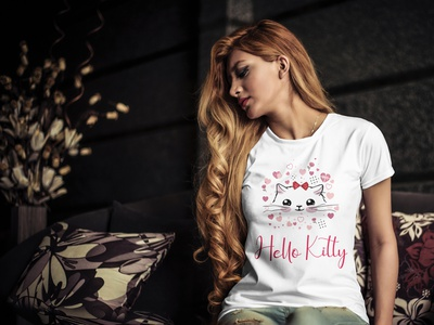 Hello Kitty - Girls Unique T-Shirt Design design covid19 corona typography design tshirts fashion design t-shirt design teest-shirtdesignfashionunique girls t-shirt print design custom design