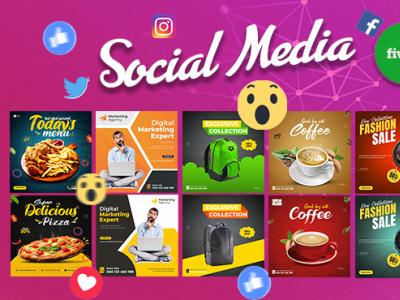Social Media post Design, Instagram post banner social post design social media banner