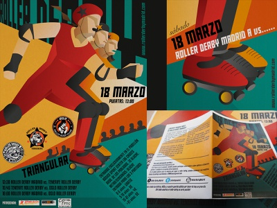 Roller derby event artwork leaflet design desktop design branding graphic design illustration illustrator printing design social media design