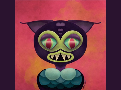 Creature art inspirational color 2d character illustrator fantasy art colorful character design procreate illustration