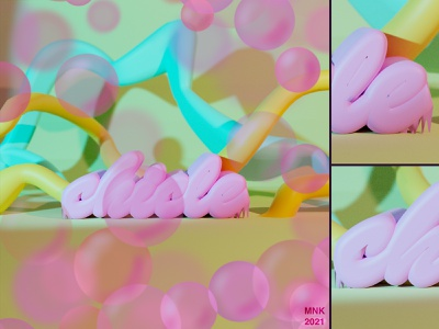 Chicle pastel colours procreate 3d blender typography type 3d art graphic design illustration