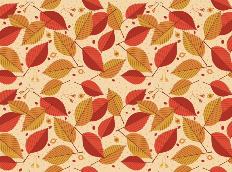 Autumn Leaf Pattern defoliation fall herb plant nature warm decor ornament seamless pattern leaves autumn leaves leaf autumn