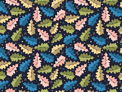 Oak Leaf Pattern leaf fall foliage forest nature leaves decorative ornament defoliation seamless pattern leaf oak