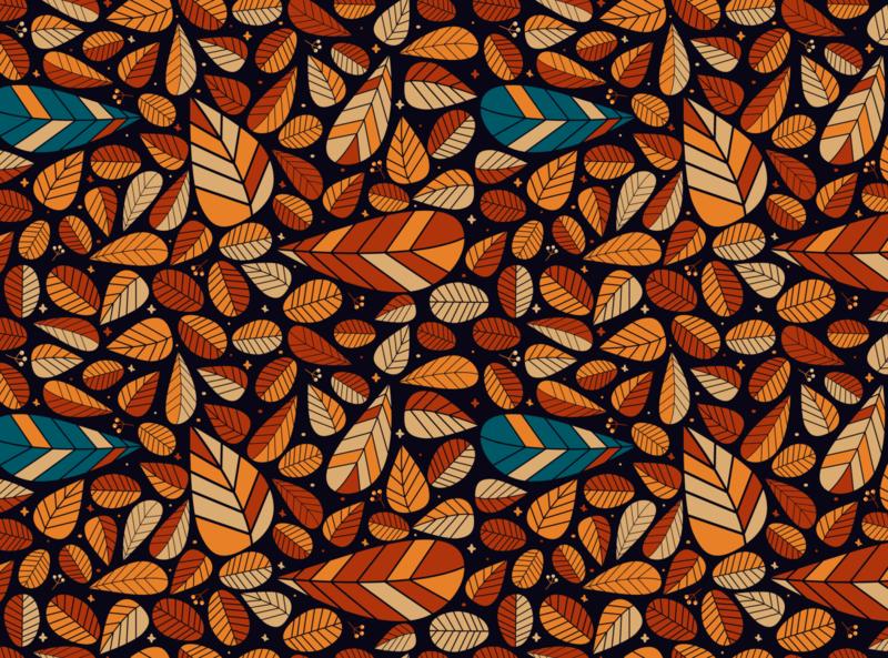 Autumn Leaves Pattern warm leaves leaf pattern autumn